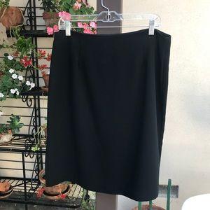 Michele Black Sheath Skirt